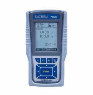 เครื่องมือวัดค่าพีเอช,ออกซิเดชั่น-รีดักชั่น,Ion,ออกซิเจนละลาย,อุณหภูมิแบบมือถือ (Cyber Scan PD 650)