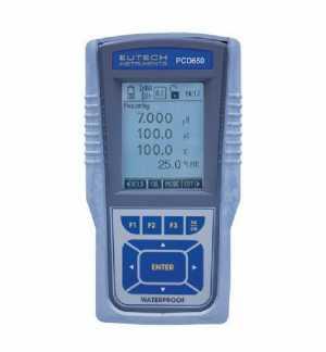 เครื่องมือวัดค่า pH,ORP,Ion,การนำไฟฟ้า,TDS,ความเค็ม,DO,อุณหภูมิ แบบมือถือ (Cyber Scan PCD 650)